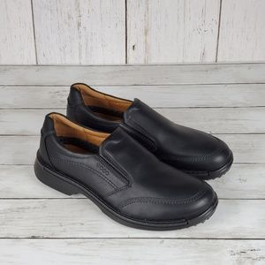Ecco Leather Slip Ons Loafers Size 11